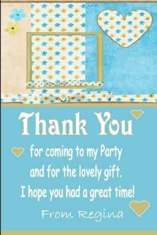 Personalised Scrapbooking Theme Thank You Cards